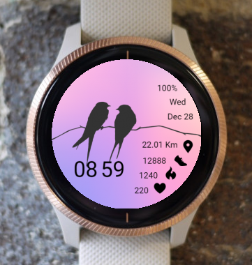 Garmin Watch Face - Bird 05