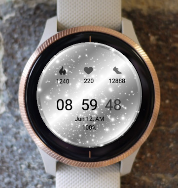 Garmin Watch Face - Silver Snow