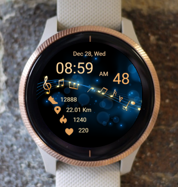 Garmin Watch Face - Music 01