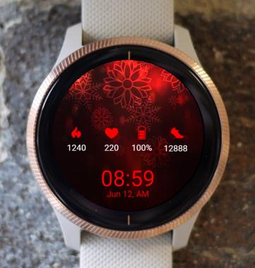 Garmin Watch Face - Red Winter