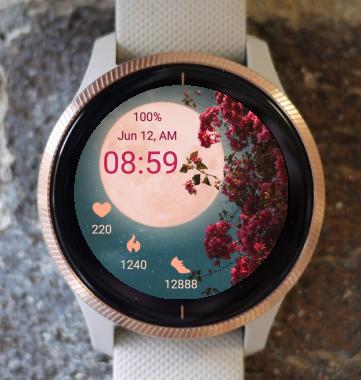 Garmin Watch Face - Moon Flower