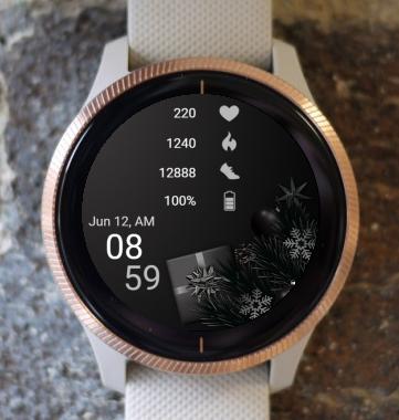 Garmin Watch Face - Dark Present