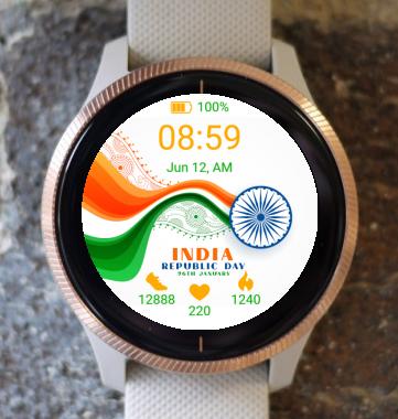 Garmin Watch Face - India Republic wave