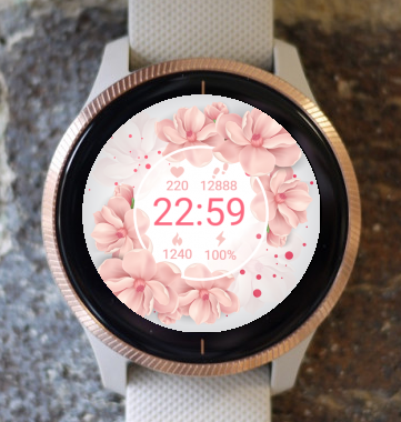 Garmin Watch Face - Pink Flower G