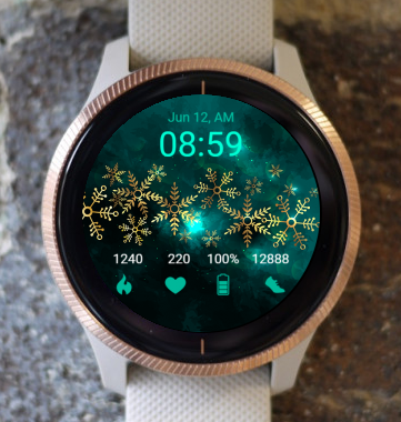 Garmin Watch Face - Snowflake G