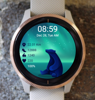 Garmin Watch Face - Polar Bear