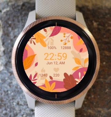 Garmin Watch Face - Autumn Flowers G