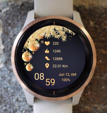 Garmin Watch Face - Gold Christmas