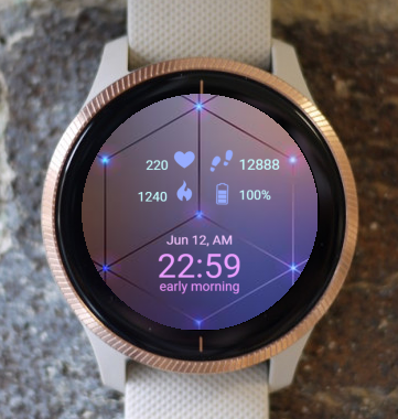 Garmin Watch Face - Lilac Light
