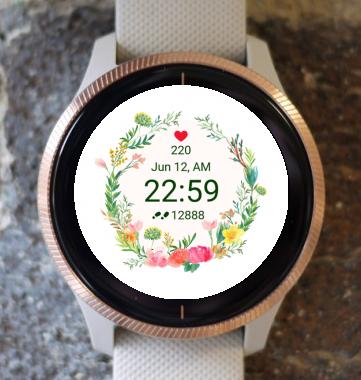 Garmin Watch Face - Flower Fair 15