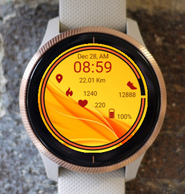 Garmin Watch Face - In Yellow