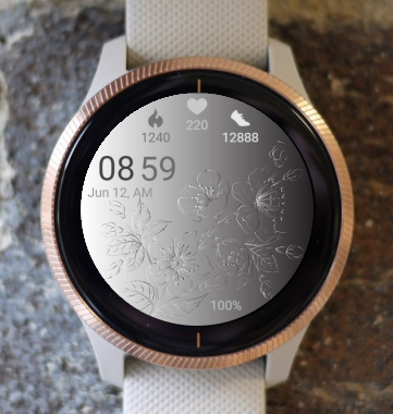Garmin Watch Face - Metal Flower