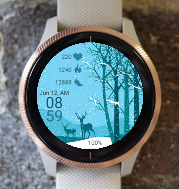Garmin Watch Face - Winter Forest