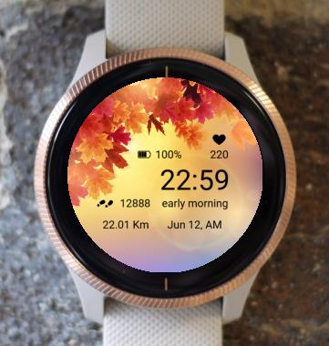 Garmin Watch Face - Autumn Magic 06
