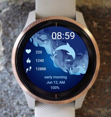 Garmin Watch Face - Blue Water