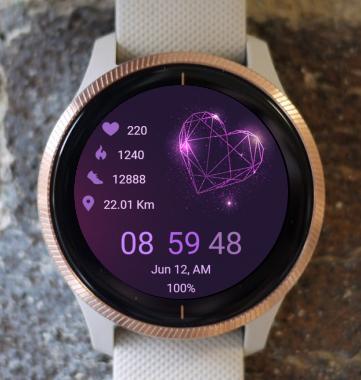 Garmin Watch Face - Purple Love