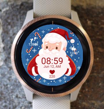 Garmin Watch Face - Christmas Santa Claus G