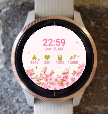 Garmin Watch Face - Cherry Flowers G