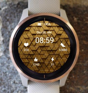 Garmin Watch Face - Golden Mosaic