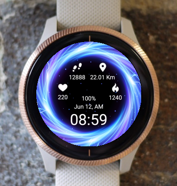 Garmin Watch Face - Black Hole