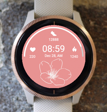 Garmin Watch Face - Pink Spring 2