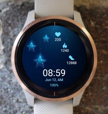 Garmin Watch Face - Blue S