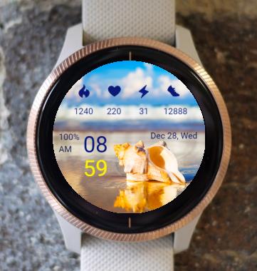 Garmin Watch Face - Beach
