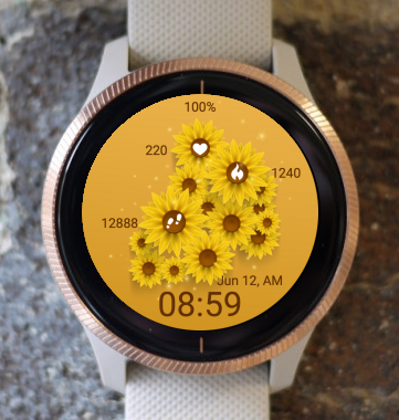 Garmin Watch Face - Sunflower A1