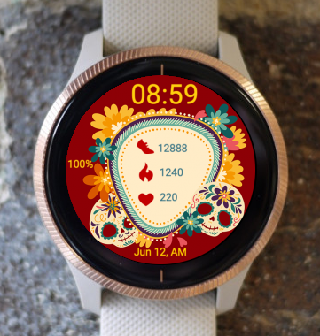 Garmin Watch Face - Sugar Skull