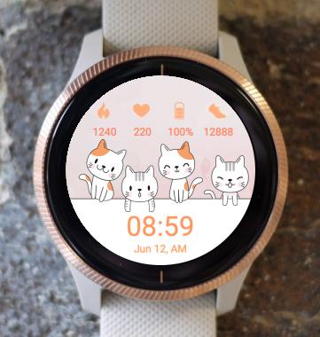 Garmin Watch Face - Little Kittens