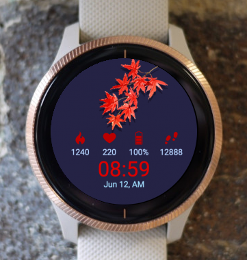 Garmin Watch Face - Red Autumn