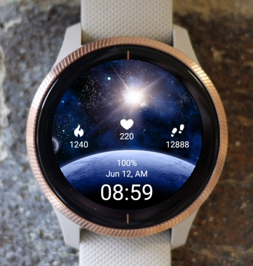 Garmin Watch Face - Earth Morning