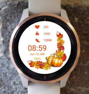 Garmin Watch Face - Autumn Hello