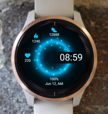 Garmin Watch Face - Blue dial