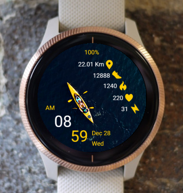 Garmin Watch Face - Kayak