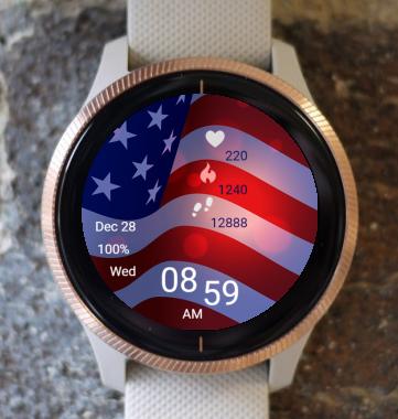 Garmin Watch Face - Flag