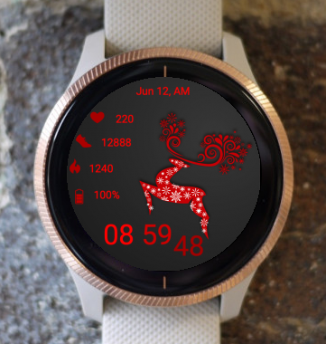 Garmin Watch Face - Red Deer