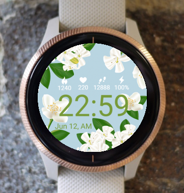 Garmin Watch Face - Jasmine Flower G