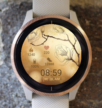 Garmin Watch Face - Goldlen Sunlight