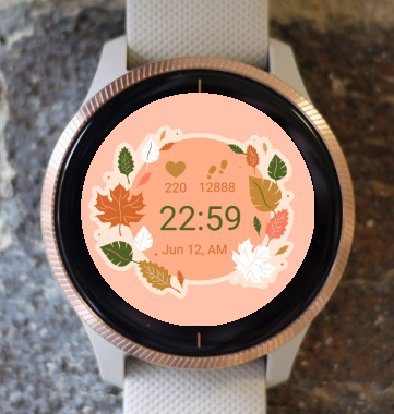 Garmin Watch Face - Flowers Bucket G