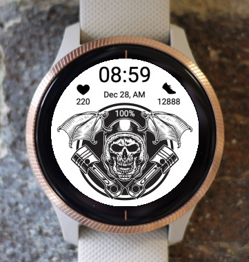 Garmin Watch Face - Lets Ride