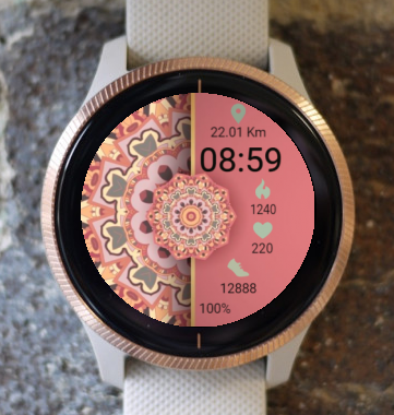 Garmin Watch Face - Soft Mandala