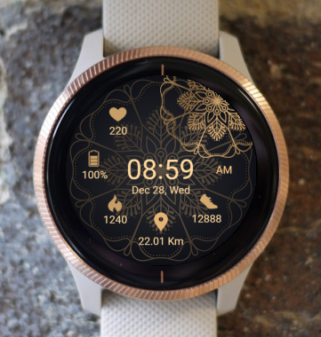Garmin Watch Face - Mandala T6