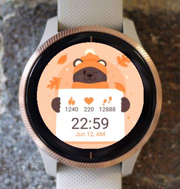 Garmin Watch Face - Bear