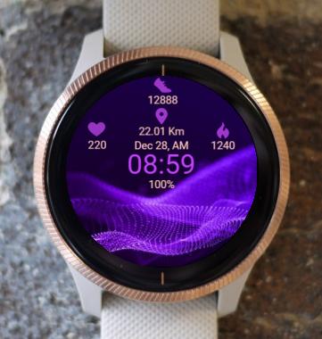 Garmin Watch Face - Infinitely Purple