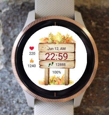 Garmin Watch Face - Autumn Magic 01