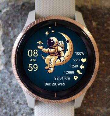 Garmin Watch Face - Man On The Moon 01