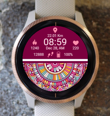 Garmin Watch Face - Roz 9 Mandala