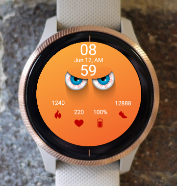 Garmin Watch Face - Scary Eyes