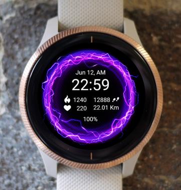 Garmin Watch Face - Purple Energy